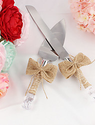 cheap -New Style Natural Hemp Rope Bowknot Cake Servers Wedding Reception