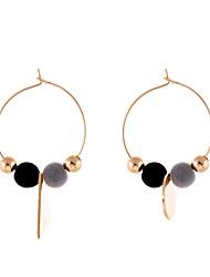 cheap -Women's Drop Earrings - Circular Bohemian Africa Handmade Cute Style Multi-ways Wear Sideways Circle For Party Birthday Business Daily