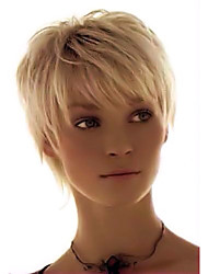 cheap -Elegant   Comfortable  Straight Short Human Hair Wig Fashionable     Woman hair
