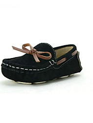 cheap -Boys' Shoes Synthetic Spring Summer Fall Moccasin Loafers & Slip-Ons Bowknot for Athletic Casual Outdoor Black Purple Red Blue