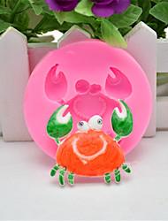 1Pcs  Crab 3D Silicone Molds Non-Stick Fondant  Soap Chocolate Moulds Cake Decorating Tools Cupcake Baking Moulds   Random  Color