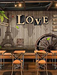 Artistico mattone Frasi e citazioni Sfondo Per la casa Tradizionale/Classico Rivestimento pareti , Tela Materiale adesivo richiesta Murale