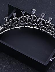 abordables -Cristal Strass Alliage Tiare Serre-tête Epingle à Cheveux Casque