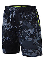 Unisex Pantaloncini da corsa per Esercizi di fitness Corsa Tessuto sintetico Taglia piccola Mimetico M L XL XXL XXXL