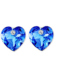 cheap -Women's Crystal Logo Stud Earrings - Crystal, Rhinestone Luxury, Unique Design, Natural Dark Blue For Party / Birthday / Business