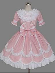 cheap -Sweet Lolita Dress Princess Women's Girls' One Piece Dress Cosplay Cap Short Sleeves Short / Mini
