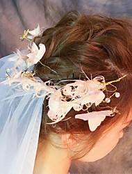 Wedding Veil Two-tier Blusher Veils Elbow Veils Fingertip Veils Cut Edge Tulle Lace Ivory
