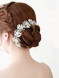 abordables -Perla Artificial Acrílico Tiaras Bandas de cabeza Cadena para la Cabeza Herramienta para el Cabello Celada