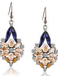 Dame Dråbeøreringe Blomster Blomstret Mode Harpiks Rhinsten Legering Blomstformet Geometrisk form Smykker Til Bryllup