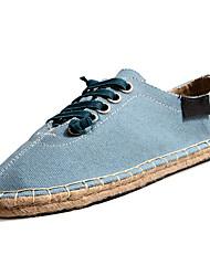 abordables -Homme Chaussures Tulle Printemps / Automne Confort Basket Marche Blanc / Noir / Bleu