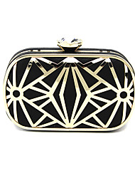 Women Bags Spring Summer PU Metal Satin Clutch Acrylic Jewels for Wedding Event/Party Formal Office & Career Blue Black Silver