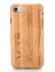 cheap -Case For Apple iPhone 7 Plus iPhone 7 Pattern Embossed Back Cover Wood Grain Tree Hard Wooden for iPhone 7 Plus iPhone 7 iPhone 6s Plus