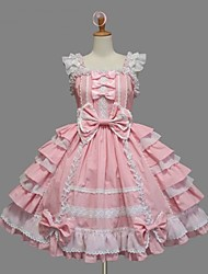 cheap -Sweet Lolita Dress Princess Women's Girls' JSK / Jumper Skirt Cosplay Pink Cap Sleeveless Short / Mini