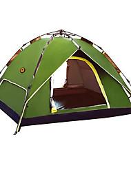 economico -CAMEL 3-4 persone Tenda Doppio Tenda da campeggio Una camera Tenda automatica Anti-pioggia per Campeggio Viaggi CM