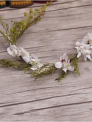 Basketwork linho headpiece-casamento ocasião especial casuais headbandes ao ar livre grinaldas 1 peça