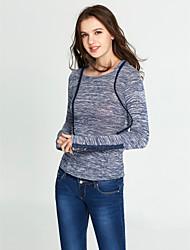 baratos -Mulheres Camiseta - Para Noite Moda de Rua Sólido