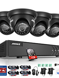 ANNKE® 4CH 720P HD Video Camera 4 in 1 1080P DVR Monitor P2P Outdoor Indoor IR Weatherproof Surveillance Security System 1TB Remote Access