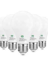 preiswerte -5W E26/E27 LED Kugelbirnen 10 SMD 2835 400-500 lm Warmes Weiß Weiß Dekorativ AC100-240 V 5 Stück