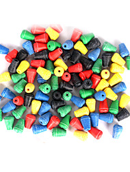 cheap -Anmuka 100Pcs Colorful Conical Fishing Stoppers Beads Sea Fishing Tackle Floating Fishing Beads Soft Plastic Accessories
