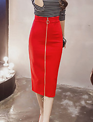 cheap -Women's Going out Vintage Pencil Skirts - Solid Colored