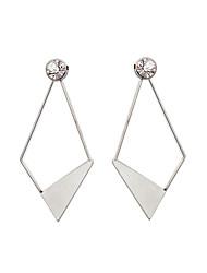 cheap -Women's Girls' Drop Earrings Imitation Diamond Unique Design Pendant Rhinestone Tag Geometric Personalized Hypoallergenic Euramerican DIY