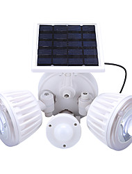 cheap -1PCS Outdoor Solar Powered Double head Security Wall Mount Garden Lights PIR Motion Sensor Lamp