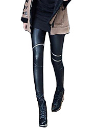 Damen PU Legging,PU Medium