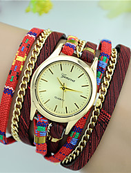 cheap -Women's Fashion Watch Bracelet Watch Quartz Colorful Fabric Band Casual Black Red Beige Navy Rose