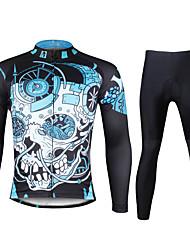 Недорогие -ILPALADINO Велокофты и лосины Муж. Длинные рукава Велоспорт Наборы одеждыБыстровысыхающий Ультрафиолетовая устойчивость Дышащий Сжатие