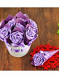 Cilindro Papel de Cartão Suportes para Lembrancinhas Com Laço Caixas de Ofertas Caixas de Presente Embalagens para Biscoitos Cone Para