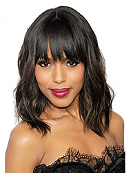 cheap -Premierwigs Short Glueless Lace Front Human Hair Wigs With Baby Hair 8 inch to 14 Inch Brazilian Remy Wavy Bob Wigs Bleached Knots
