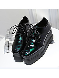 cheap -Women's Shoes Rubber Summer Light Up Shoes Heels Flat Heel Black