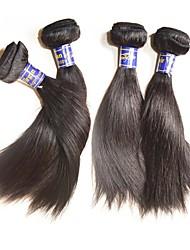 Недорогие -Натуральные волосы Пряди натуральных волос Реми Прямой Перуанские волосы 400 g Более года