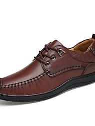 Men's Sneakers Spring Fall Comfort Leather Casual Light Brown Dark Brown Black