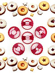 Moule de Cuisson Cœur Fleur Etoile Pour Gâteau Pour Cookie Plastique Bricolage Haute qualité Ecologique