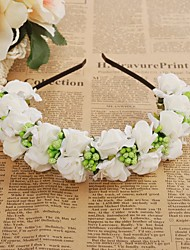 cheap -Foam Headbands Flowers 1 Wedding Special Occasion Casual Outdoor Headpiece