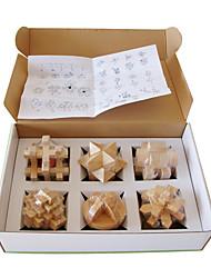 Недорогие -Волшебный куб IQ куб Дерево Спидкуб Конструкторы Пазлы Деревянные пазлы головоломка Куб Веселье Тест IQ Классика Детские Игрушки Универсальные Подарок