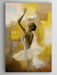 Dipinta a mano Ritratti Verticale,Modern Un Pannello Tela Hang-Dipinto ad olio For Decorazioni per la casa