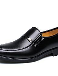 Недорогие -Черный-Для мужчин-Для прогулок Для офиса Повседневный Для вечеринки / ужина-КожаУдобная обувь-Туфли на шнуровке