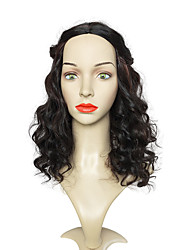 cheap -Brown Long Wig Deep Wave Wig Natural Wig Wig Synthetic Wig Women Costume Wig Cosplay Wigs