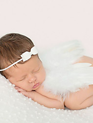 Newborn Baby's Modelling of the Angel Red Photographic Cloths Headwears