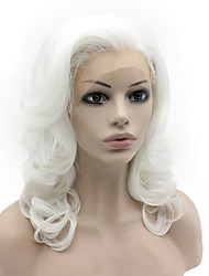 cheap -Synthetic Hair Wigs Body Wave Natural Hairline Lace Front Carnival Wig Halloween Wig Natural Wigs Medium White