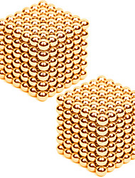 cheap -2*216PCS 3mm Same Color Gold&Silver DIY Neodymium Magnetic Balls Buck Ball Spheres Beads Magic Cube Magnets Puzzle Toy(within 1 Box  2 Color Choose)