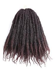 billige -Krøllede fletninger Hårkrøller Krøllet 45cm Sort / Kastanjerød Sort / Bourgogne Mellembrun Sort / Rød Sort / Lilla Fletning af hår Hår