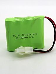 Недорогие -никель-водородная батарея ni-mh aa 1800mah 4.8v 557 head 1 шт. (зеленый цвет)