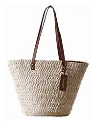 Women Bags Summer Straw Tote for Casual Outdoor Beige