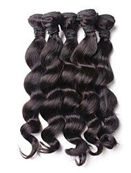 cheap -200g lot 8 26inch malaysia virgin loose wave hair natural black human hair weave hair bundles sale