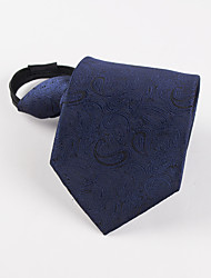 Men's Fashion Korean dark blue pattern lazy business man Necktie