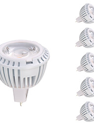 billiga -GMY® 6pcs 8W 520lm GU5.3(MR16) LED-spotlights MR16 1 LED-pärlor COB Varmvit 12V
