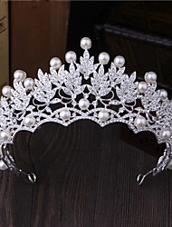 cheap -Imitation Pearl Rhinestone Alloy Tiaras Hair Pin 1 Wedding Special Occasion Outdoor Headpiece